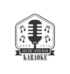 Old-Fashioned Stage Microphone In Frame Karaoke vector image