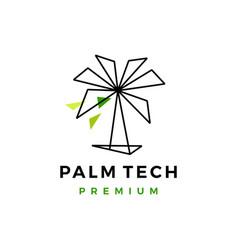 palm tree geometric logo icon vector image