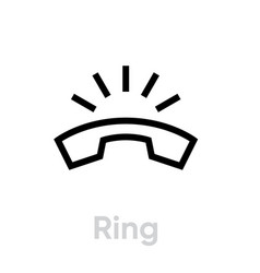 phone ring icon vector image