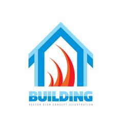 Real estate - logo template concept vector