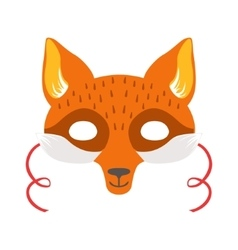 Red Fox Animal Head Mask Kids Carnival Disguise vector