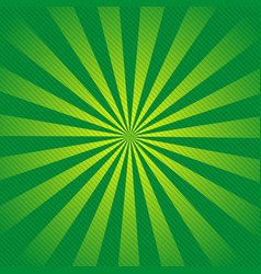 retro ray background with lines of green color vector image