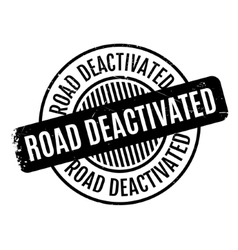 Road Deactivated rubber stamp vector
