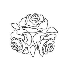 rose flower monochrome pattern for tattoo vector image