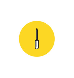 screwdriver icon isolated equipment and vector image