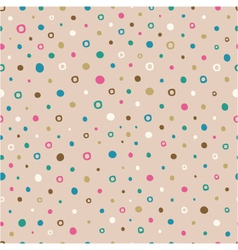 seamless pattern of hand drawn dots vector image
