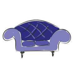 sofa hand drawn design on white background vector image
