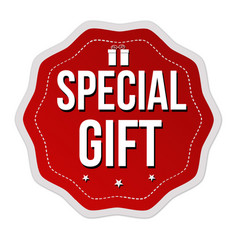 Special gift label or sticker vector