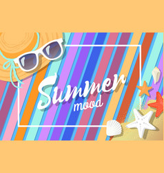 summer mood bright card color vector image