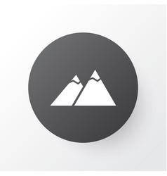 The mountains icon symbol premium quality vector