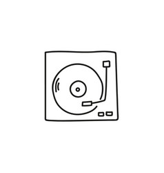 turntable sketch icon vector image