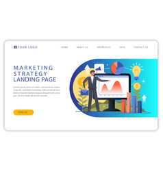 Web landing page design vector