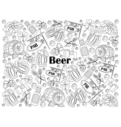 Beer colorless set vector image vector image