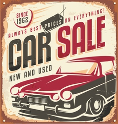 Car sale vector image vector image