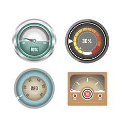 convenient speedometers for internet traffic vector image vector image