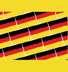 grunge germany flag or banner vector image