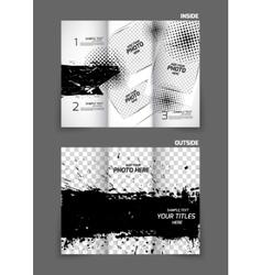 Grunge tri fold brochure vector image vector image