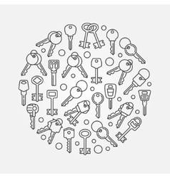 Keys round vector image
