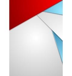 Minimal tech corporate flyer design vector image