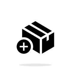 Add box simple icon on white background vector image