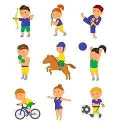 Cartoon sport kids for 2016 vector image