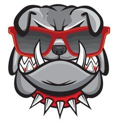 Dog with retro glasses vector
