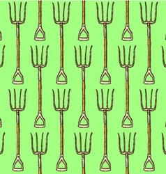 Garden fork vector