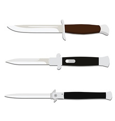 Knives collection vector image vector image