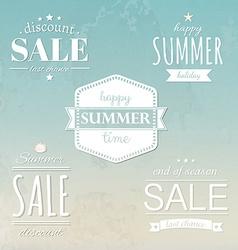 Summer Labels Set vector image