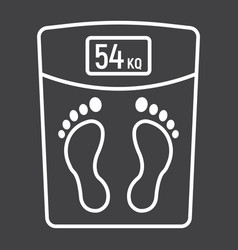 weight scale line icon fitness and sport vector image vector image