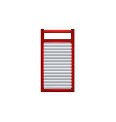 wooden washboard in red and silver design vector image vector image