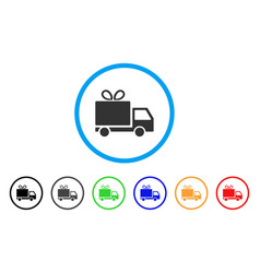 gift delivery rounded icon vector image vector image