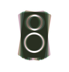 speaker sign colorful icon vector image