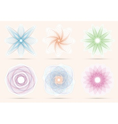 Spirograph ornament collection vector