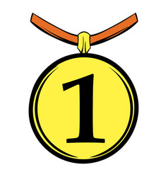 1st place medal icon cartoon vector