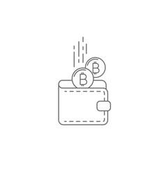 bitcoin wallet concept icon vector image vector image