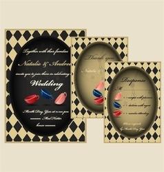 Mad tea party wedding invitation set vector image