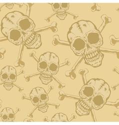 Pattern skull 2 vector image vector image