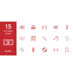 15 rope icons vector