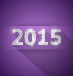 2015 with abstract triangle violet background vector image