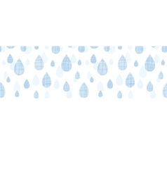 Abstract textile blue rain drops horizontal vector