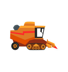 Agricultural harvester combine farm vehicle vector