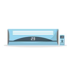Air conditioner flat vector