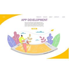App development website landing page design vector