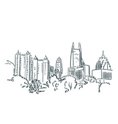 Atlanta usa sketch city line art vector