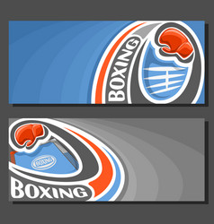 Banners for boxing vector