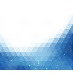 blue white abstract polygonal background vector image