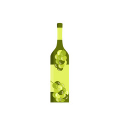 bottle with the image of olives or grapes flat vector image