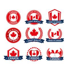 canada quality seals set icon vector image