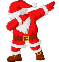 cartoon happy dancing santa claus vector image